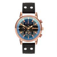 спортивный дизайн часов оптовых-Men Watches Top  Male Clock Retro Design Leather Band Alloy Sports Watches Quartz Wrist Watch Relogio Masculino