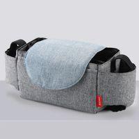 Wholesale use diaper resale online - Multi Pocket Stuff Durable Hanging Flip Type Multifunction Collection Stroller Use Diaper Organizer Straps Shopping Storage Bag