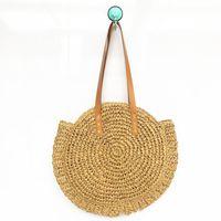 sacos de praia para venda venda por atacado-Tecelagem Mulheres Saco De Praia De Armazenamento De Lona Sacos De Ombro Viajar Senhoras Simples Tote Grande Capacidade Bolsas de Venda Quente 23 yh Z