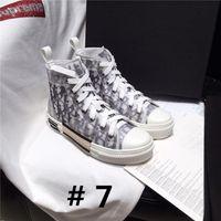 ingrosso stivali in gomma bianca nera-Sneaker B23 in tela tecnica obliqua alta con suola in gomma bianca e nera, stivali piatti casual da donna con scatola da 35-45