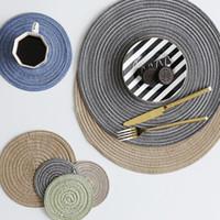 mavi arka planlar toptan satış-İskandinav yüksek kaliteli rami mat termal yalıtım ve dayanıklı saf renk fincan takımı gri mavi yeşil fotoğraf arka plan dekoratif mat