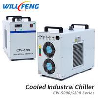 husillo cnc enfriado por agua al por mayor-CW-5200 enfriador de agua para la máquina de grabado láser de CO2 / bomba de agua cw-5200. la refrigeración por agua para la máquina de husillo CNC