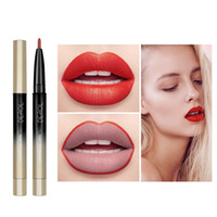 Wholesale lipstick bullets for sale - Group buy 12 Color Matte Lipstick Galaxy Bullet Portable Detachable Double Lip Pencil Lasting Moisturizing Matte Makeup Lipstick Popular Brand L1201