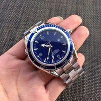 relógios mens mecânica venda por atacado-Novos homens mecânicos de luxo 300 Master Co-Axial 41mm Automático Gents Relógios James Bond 007 Specter Mens Esportes Relógios Cronômetro Relógio De Pulso