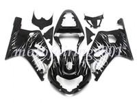 decalques da motocicleta azul preto venda por atacado-3 Presentes 24 Cores Corpo Para SUZUKI GSX-R600 GSXR600 GSXR750 01 02 03 8HM79 preto brilhante GSX R600 R750 K1 GSXR 750600 2001 2002 2003 Carenagem