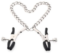 Wholesale sex clips resale online - Adult Metal Nipple Clamps With Chains Breast Clips Clamps Sex Toys For Couples Sex Products For Women Adult Games