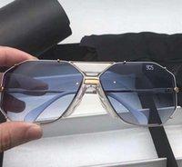 neue sonnenbrille blau großhandel-Mens Legends 905 Sonnenbrillen Gold Weiß Blau Verlaufsgläser Designer Sonnenbrillen Sonnenbrillen Neu mit Box