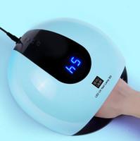 ingrosso nails uk-Pro 80 W Lampada UV Gel LED Lampada ad alta potenza Tutti i gel smalto Nail Dryer Sensore di luce del sole Led strumenti di arte del chiodo leggero
