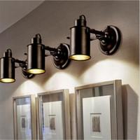 endüstriyel metalik süsleme ışıkları toptan satış-Endüstriyel kolye Işık Vintage Loft Tavan lambası Ayarlanabilir Duvar Amerikan Retro duvar lambası LED Lamba Restoran cafe bar dekor Spot