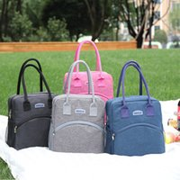 Wholesale handbag style lunch bags resale online - New Portable Lunch Bag Thermal Insulated Lunch Box Tote Cooler Handbag Bento Pouch Dinner Container School Food Storage Bags DBC BH3101