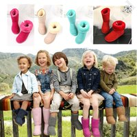 Wholesale suede flats girls for sale - Group buy Designer Kids Winter Snow Boots Fashion Australia Ug Genuine Leather Mid calf Fur Boots Girls Boys Ankle Knee Boot Shoes SIZE C72910