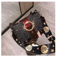 ingrosso borse di marca cinesi-Porcellana Borse di nastri di paillettes di marca borse famoso femminile del corpo del progettista delle signore della borsa trasversale Tuomei wanggong / 12