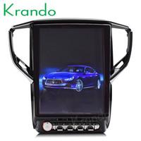 """visión nocturna inglesa al por mayor-Krando Android 6.0 12.1 """"Pantalla de coche de lujo reproductor de DVD del sistema de navegación de radio GPS para Maserati Ghibli multimedia 3G wifi KD-MG540"""