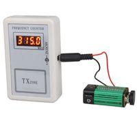 herramientas clave coche vw al por mayor-CKS 1pc Contador de medidor de frecuencia digital con batería de 9 V Control remoto inalámbrico Probador 250-450 MHZ Herramienta de prueba de frecuencia de llave de coche