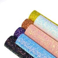 stoffhaar verbeugt diy großhandel-21 * 30 cm A4 Sechseck Glitter PU Kunstleder Stoff kunstleder Blätter für Haarschleifen Machen DIY Bastelbedarf Dekorative Materialien