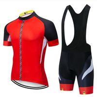 Wholesale bike jerseys for sale - Group buy 2019 Mavic team Cycling Jersey Set Men Bike Clothing Short Sleeve shirt Bib Shorts Suit High Quality summer bicycle sports uniform