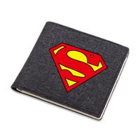 dc geldbörsen großhandel-Die Rächer DC Marvel Super Hero Geldbörse Superman Logo Cartoon Geldbörse Geldbörse