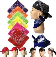 Wholesale bandanna scarf for sale - Group buy 55 CM Bandanna Paisley Print Handkerchief Magic Scarf Riding Headband Square Turban Outdoor Hiking Face Magic Scarf LJJK2023