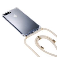 Wholesale cross cords resale online - Necklace Holder Smart Phone Case with Cord Strap Transparent Silicon Cover Stylish Cross Body Lanyard Cord Cover for Iphone Samsung Huawei