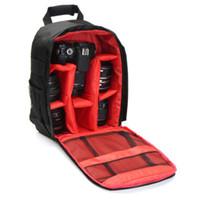 красный рюкзак для камеры оптовых-Профессиональный сумка для хранения камеры прочный водонепроницаемый черный чехол для переноски рюкзак для камеры DSLR красный зеленый оранжевый интерьер