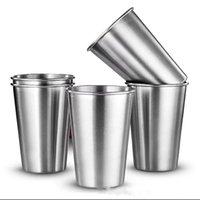 xícaras grátis china venda por atacado-Copo de Aço inoxidável 16 oz 500 ML de Aço Inoxidável Caneca de Café Caneca de Viagem Copos BPA Free Pint Cup Tumbler