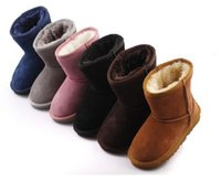 Wholesale chocolate babies girls resale online - Free ship New Real Australia High quality Kid Boys girls children boots baby warm snow boots Teenage Students Snow Winter boots