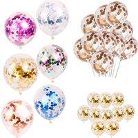 globo claro de la boda al por mayor-12 estilos de lentejuelas de látex multicolor llenos de globos claros juguetes de los juguetes de los niños de la boda hermosa boda decoraciones del partido de cumpleaños DHL JY217