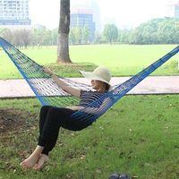 Wholesale mesh hammock camping for sale - Group buy Portable Nylon Hammock Hanging Mesh Sleeping Bed Swing Outdoor Travel Camping