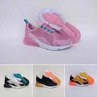 ingrosso scarpe da bambino rosa caldo-Nike air max 270 HOT 2019 Infantile da bambino di alta qualità per bambini scarpe da ginnastica rosa Dusty Cactus da esterno per bambini sportivo atletico TN boy girl Sneaker