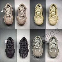 Wholesale new shoes mouse online - New Kanye West Descrt desert mouse super moon yellow running shoes practical black men womans sneakers outdoor sports shoes