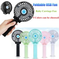 Wholesale pocket mini rechargeable for sale - Group buy Portable Rechargeable Folding Fan USB Charging Cool Removable Rotating Handheld Mini Outdoor Fans Pocket Folding Fan Party Favor