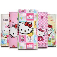 kitty brieftaschen großhandel-Neue hallo kitty brieftasche handtasche studentin freizeit pu lange brieftasche cartoon dame geldbörse geburtstagsgeschenk kartenhalter