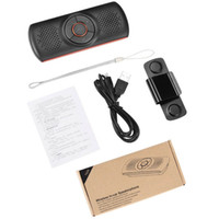 Wholesale music car speaker mp3 player for sale - Group buy T826 Handsfree Car Kit Wireless Car Speakerphone Tf Music Mp3 Player Connect Phones Speaker Sun Visor Clip Speakerphone