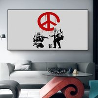 Wholesale large art decor for sale - Group buy Large Nordic Black and White Banksy Graffiti Posters Canvas Wall Art Paintings Decorative Prints Posters Living Room Home Decor