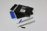 ingrosso mb può-Nuovo lotto di 12 pezzi MB Rollerball Pen Black / Blue 710 Refills Medium Point può miscelare collocazione con coperchio di ricarica