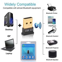 Wholesale Bluetooth receiver USB Bluetooth wireless Audio Music Adapter Converter CSR chip suit for desktop computers laptop For winXP