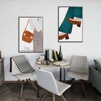 kahverengi tuval resmi toptan satış-Kahverengi ayakkabı yağlıboya ev dekorasyon duvar sanatı duvar hiçbir çerçeve soyut yağlıboya arka plan duvar tuval oturma odası kanepe yatak odası