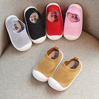 primer zapato bajo al por mayor-2019 Primavera Infant Toddler Shoes Girls Boys Casual Malla Zapatos Low Bottom Cómodo antideslizante Kid Baby First Walkers