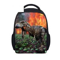 çocuk kitapları toptan satış-12 Inç Dinozor Sırt Çocuklar Schoolbag Için Okul Çocuk Sırt Çantası Erkek Kız Doğum Günü Hediyesi Tyrannosaurus Seyahat Kitap Çantası
