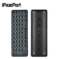 поддержка клавиатуры bluetooth оптовых-iPazzport KP-810-73B Bluetooth Backlight Mini Wireless Keyboard for Xiaomi Mi Box 4K Supports Windows / Mac OS / Linux TV box