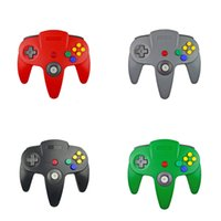 Wholesale n64 controllers resale online - USB Long Handle Game Controller Pad Joystick for PC N64 System Color in stock