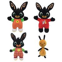 neue heiße puppe großhandel-30 cm 4 stil Neue Heiße Bing Bunny Plüschtier Cartoon Bing Bunny Kuscheltiere Puppe Weihnachten kinder Spielzeug M019