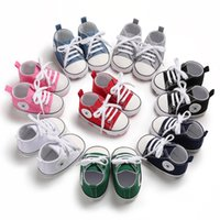Wholesale baby canvas lace up sneakers for sale - Group buy Kids Baby Sports Shoes Boy Girl First Walkers Sneakers Baby Infant Soft Bottom walker Shoes pairs