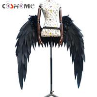 anime requisiten zubehör großhandel-Coshome Anime Overlord Albedo Cosplay Kostüm Wings Horns Cosplay Requisiten Zubehör