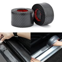 Wholesale car sill covers for sale - Group buy Car styling car door Plate protector D Carbon Fiber sticker Sill Scuff Cover Anti Scratch tuning car universal Accessories