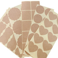 Wholesale blank kraft stickers for sale - Group buy 10 Pack Various Vintage Blank Kraft Label Sticker DIY Hand Made Envelopes Stickers and Gift Packaging Seal Seals Sticker