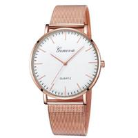 ginebra reloj mujer rojo al por mayor-1 UNIDS Red de Mujeres con Reloj # Escala Simple Aleación Dial Ginebra Reloj de pulsera de Cuarzo relojes para mujer digitales 2018 A50