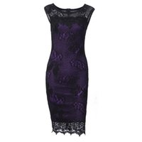 ingrosso matite a farfalla-2019 moda Donna Summer Dress Kenancy 5XL Plus Size Donne Matita Dress Summer Fashion Squisita paillettes Crochet Butterfly Lace Party