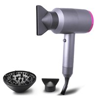 Wholesale 1400W Negative Ions Hair Dryer with Diffuser Professional Salon Hair Blow Dryer Fast Dry Low Noise with Concentrator Diffuser