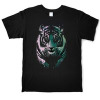 Wholesale anti painting resale online - Painting Tiger Men Cotton Animal T Shirt Funny Tiger Street Tees Shirts Male Short Sleeve Casual T Shirt Man S XL Print Funny T Shirts